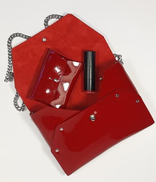 Ensemble Pliage 4 pièces vernis rouge ou noir