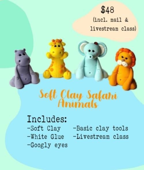 Soft  Clay Safari Animals