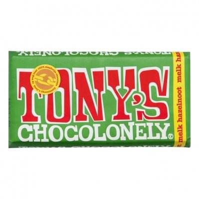 180 gram - Tony Chocolonely - Melk hazelnoot