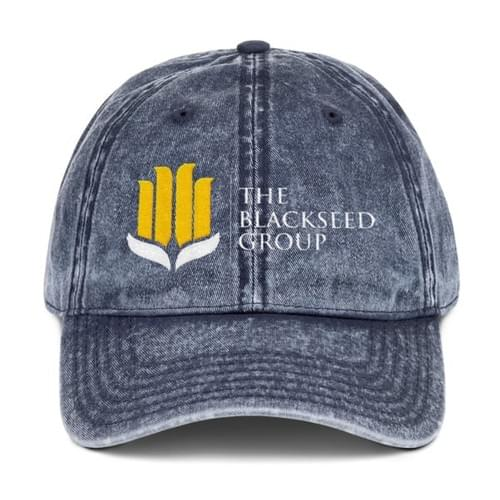 "The BlackSeed Group ""Vintage"" Hat (Comes in 3 colors - Click pic to view)"