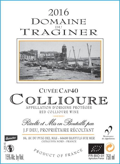 Collioure  Cuvée Cap40 2016