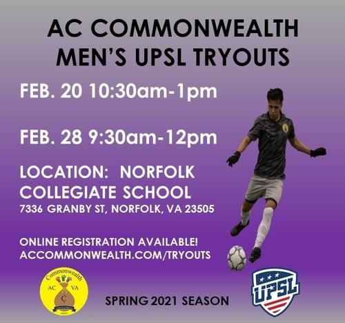 AC COMMONWEALTH SPRING 2021 TRYOUT REGISTRATION