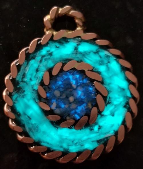 Emotional W/Emotional Selinite, Turquoise Pendant