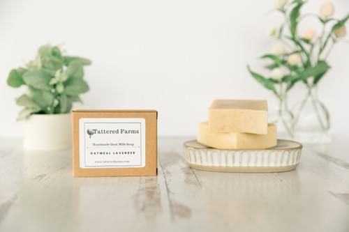 Oatmeal Lavender Goat Milk Soap- Exfoliating