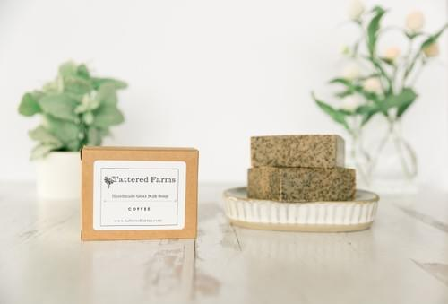 Coffee Goat Milk Soap- Exfoliating
