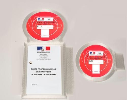 Ancienne Carte VTC + Porte Macaron - Avant/Arrière
