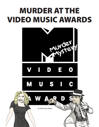 Murder at the Video Music Awards (VMAs): A Red Carpet Murder Mystery Party Kit