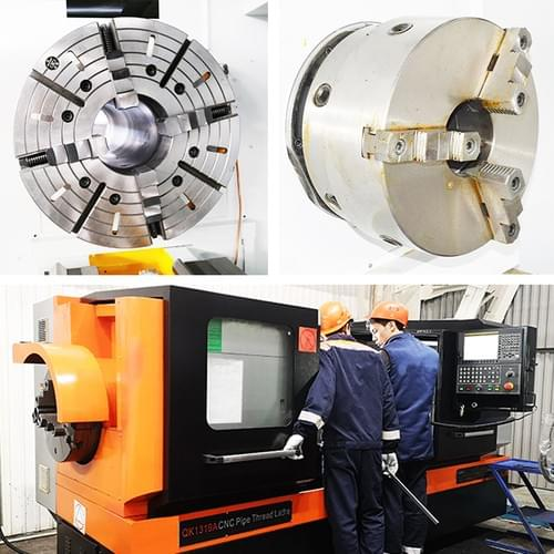 Big Bore CNC Lathe Screw Cutting Lathe Machine For Pipe Threading