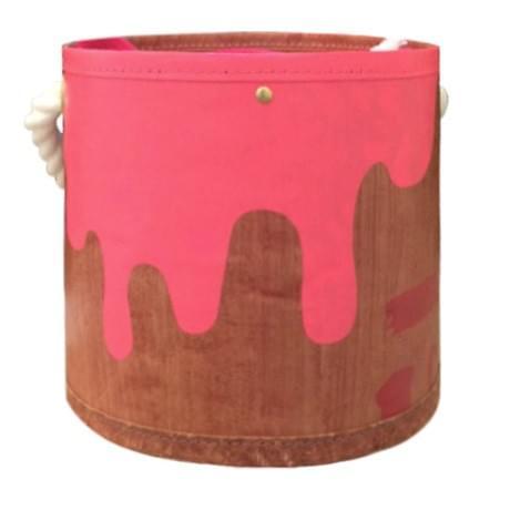 ペンキ缶バッグS ピンク