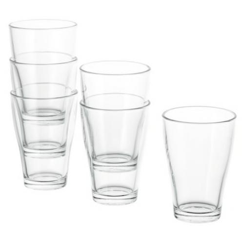 Le lot de verres supplémentaires