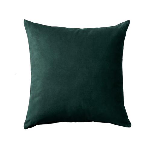 Le coussin vert foncé