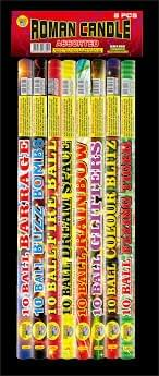 10 Ball Roman Candle Assortment