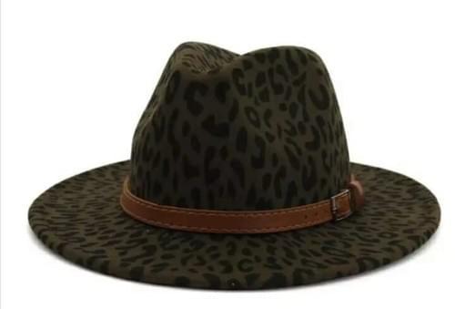 Green Leopard Fedora