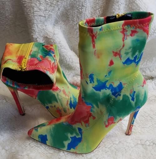 Paint splash booties