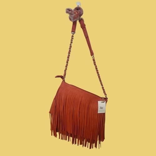 Burt Orange Fringed purse
