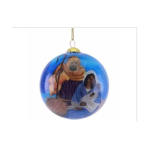 Hand Painted Nativity Ornament