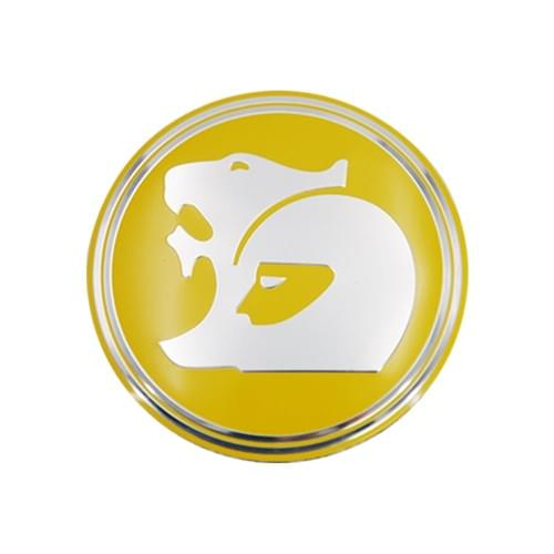 WHEEL CAP HOLDEN  OD 63mm YELLOW  REPLACEMENT ONLY