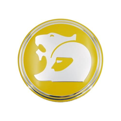WHEEL BADGE HOLDEN OD 56mm YELLOW REPLACEMENT ONLY