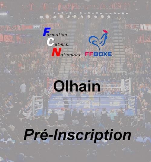 Pré inscription - Session 06 & 07 novembre 2021 - Olhain
