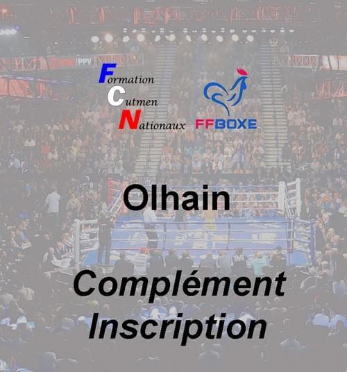 Complément d'inscription - Session 06 & 07 novembre 2021 - Olhain