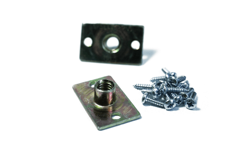 Rectangular zinc plated screw-in t-nuts