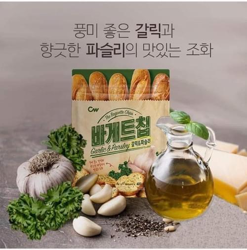 韓國超人氣 CW牛油蒜蓉麵包脆脆