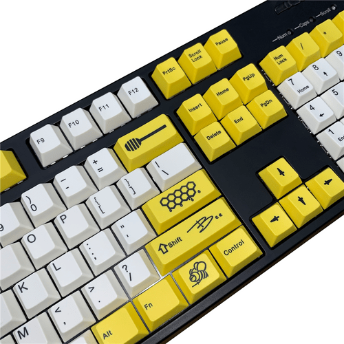 Honeybee 108Key PBT Dye Sub Keycap Set