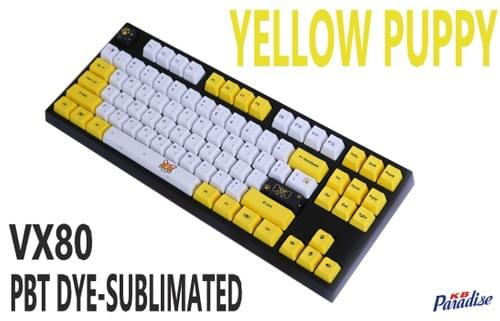 VX80 - Yellow Puppy-PBT Dye-sublimated
