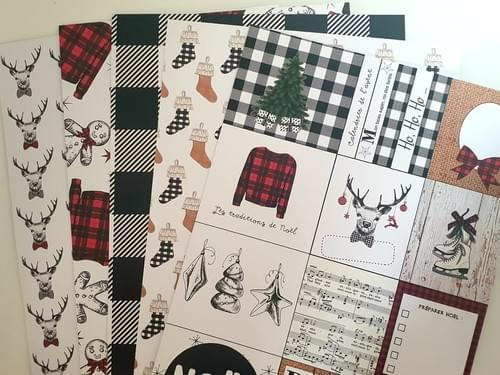 Kits Papiers de la box : Mon plus beau noël