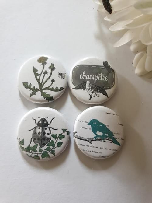 Badges collection champêtre