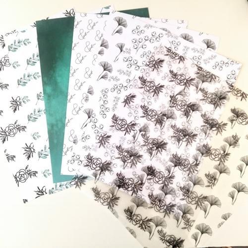 Papiers - Collection Mon petit jardin fleuri