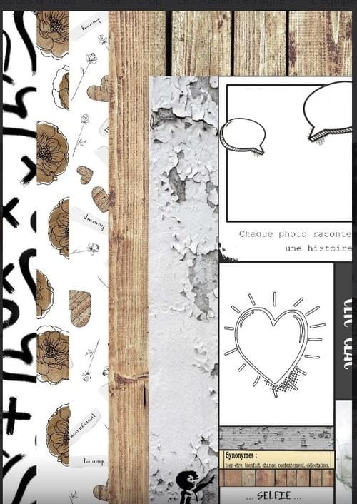 Kit papiers Collection Amour, Gloire & scrap
