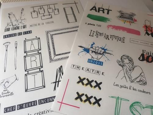 """Stickers Transparents collection """"j'aurais voulu être un artiste"""""""