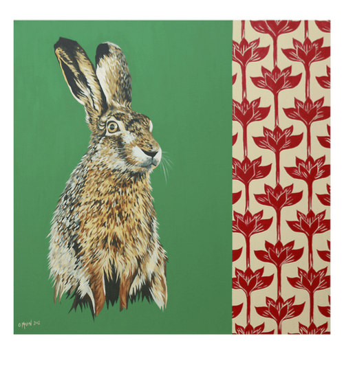 Lounging Hare - A4 Limited Edition of 50, Fine Art Print