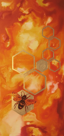Marble Bee - 22.5cmX45.5cm Limited Edition of 10, Fine Art Print