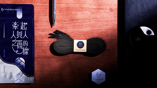 黑白配 | 單色細柔扁鞋帶 | 復刻九色系| 附經典世界名著詩詞書籤卡 |【台灣設計師+台灣製造商】𝐌𝐀𝐂𝐇𝐈𝐄𝐍