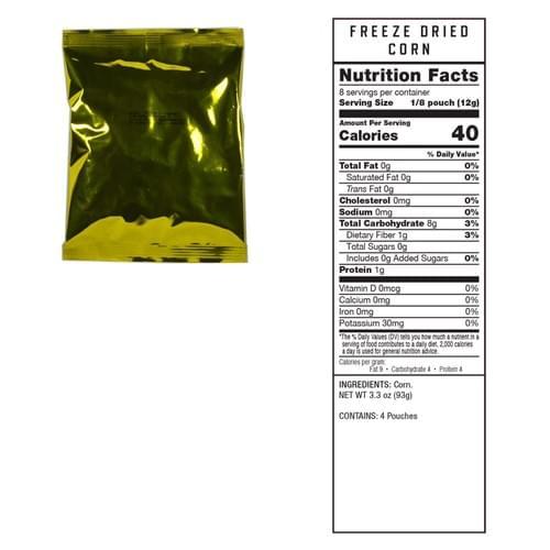120 Serving Freeze Dried Vegetables