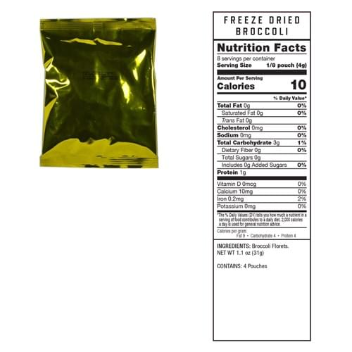 480 Serving Freeze Dried Vegetables