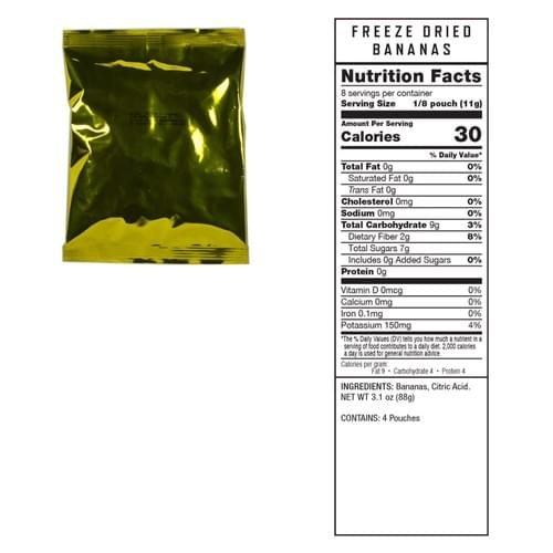 240 Serving Freeze Dried Fruit
