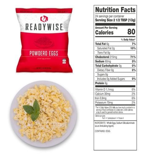 Powdered Eggs - 144 Total Servings