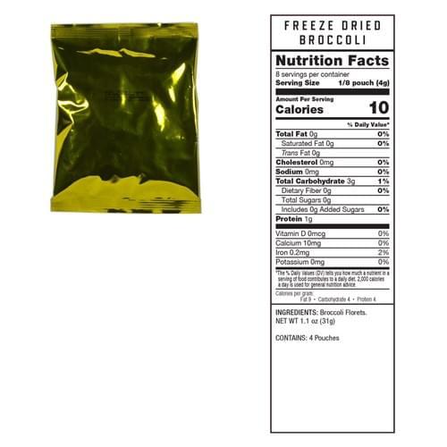720 Serving Freeze Dried Vegetables