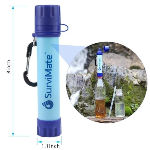 SurviMate Portable Water Filter Straw Survival Kit Emergency Camping Integrated Water Filter-K8612S