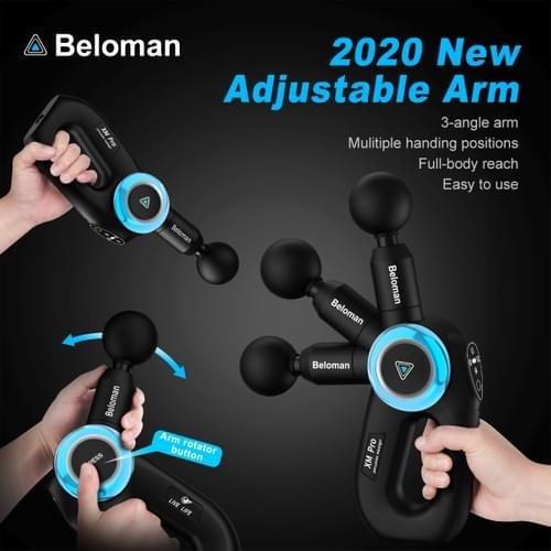 Beloman XM Pro:Muscle Massage Gun with Adjustable Arm,Deep Tissue Percussion  for sports