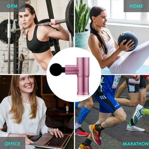 Beloman Percussion Mini Muscle Massage Gun for Pain Relief(Pink)