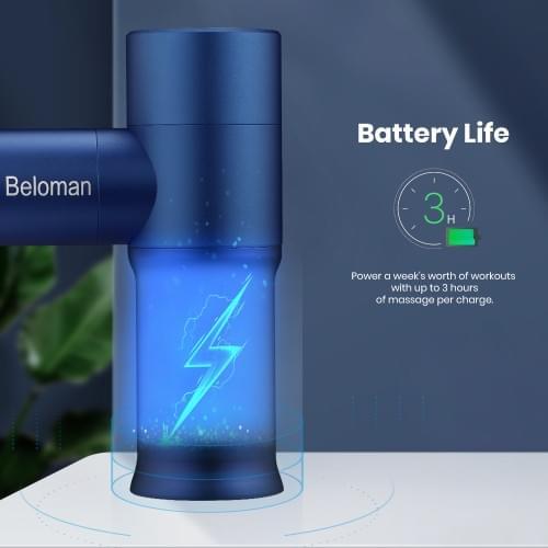 Beloman Percussion Mini Muscle Massage Gun for Pain Relief(Blue)