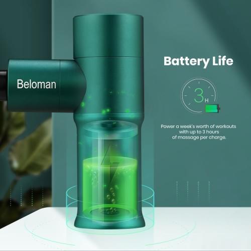 Beloman Percussion Mini Muscle Massage Gun for Pain Relief(Green)