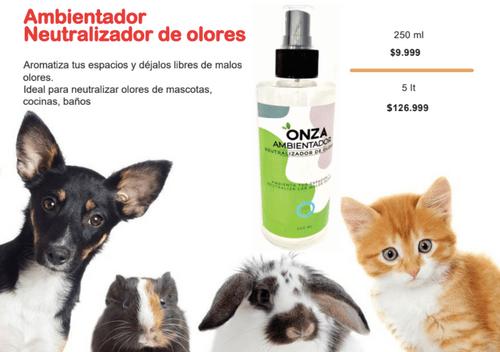 AMBIENTADOR NEUTRALIZADOR DE OLORES (250ml - 5LT) - OZ