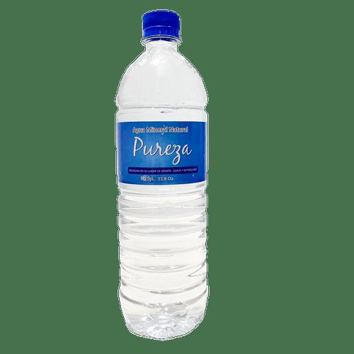 PUREZA: AGUA MINERAL 100% NATURAL - Paca por 15 botellas de 1 litro
