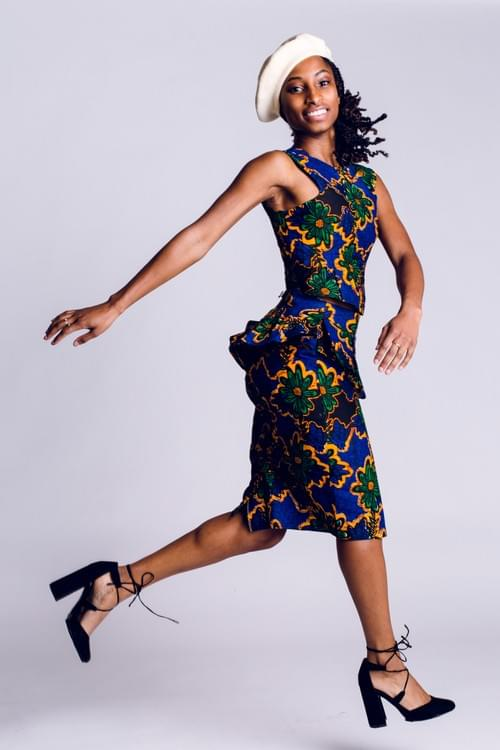 Sleeveless Top & Peplum Skirt (Combination)