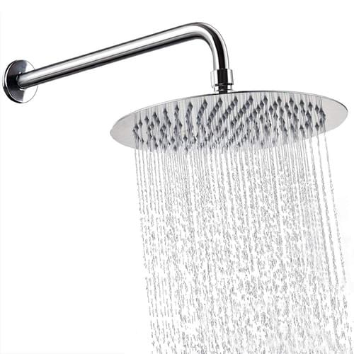 12 Inch Shower Head With 15 Inch Extension Arm, NearMoon Round Rain Shower Heads